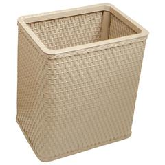 Chelsea Collection Decorator Color Square Wicker Wastebasket, Mocha