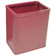 Chelsea Collection Decorator Color Square Wicker Wastebasket, Raspberry