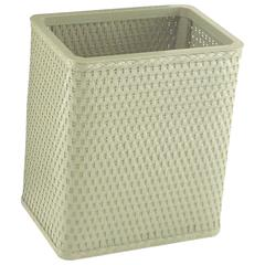 Chelsea Collection Decorator Color Square Wicker Wastebasket, Sage Green