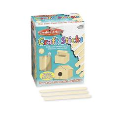 "CLI Wood Craft Sticks - 500 Piece(s) - 375 mil x 6"" - Natural"