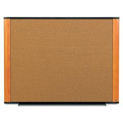 3M Cork Bulletin Board, 36 x 24, Aluminum Frame w/Light Cherry Wood Grained Finish