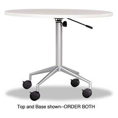 "RSVP Series Round Table Top, Laminate, 36"" Diameter, Gray"