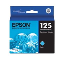 Epson T125220 (125) DURABrite Ultra Ink, Cyan