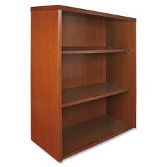 "Lorell Stack-on Bookcase - 36"" Width x 13"" Depth x 39"" Height - Fluted Edge - Hardwood - Cherry, Veneer"