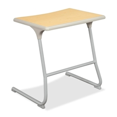 "HON Accomplish CL30HPB Adjustable Height Student Desk - Rectangle - 26"" x 20"" x 26.0"" - Steel - Titanium Frame, Maple Top"