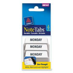 Avery NoteTabs Preprinted Index Tab - 3 Tab(s)/Set - 21 / Pack - White, Taupe Tab