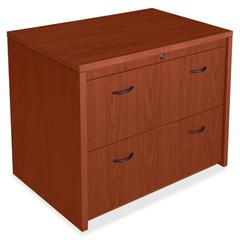 "Lorell Lateral File - 36"" x 24"" x 30"" - 2 x File Drawer(s) - Letter, Legal - Scratch Resistant, Durable, Moisture Resistant, Impact Resistant - Cherry"