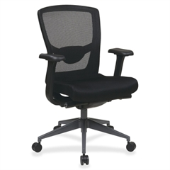 "Lorell High Back Executive Chair - Black Seat - 23.8"" x 38.5"" x 42.3"" Overall Dimension"