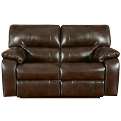 Exceptional Designs by Flash Canyon Chocolate Leather Reclining Loveseat