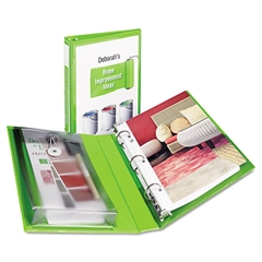 """Avery Mini Protect & Store View Binder w/Round Rings, 8 1/2 x 5 1/2, 1"""" Cap, Green"""