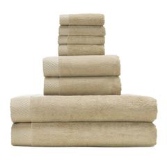 Rayon from Bamboo blend Resort Towel Bundle in Champagne
