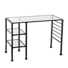 Metal/Glass Writing Desk