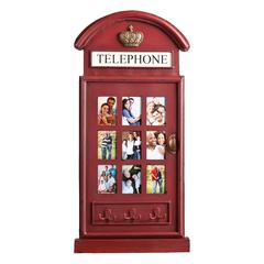 Edmond Phone Booth Wall Mount Photo Frame