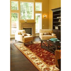 "Lifestyles 5468 Red/Ivory Agra 5'3"" x 7'7"" Size Area Rug"