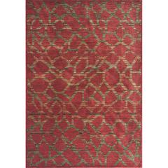 """Zen 5059 Earth Red Pebbles 3'3"""" x 5'3"""" Size Area Rug"""