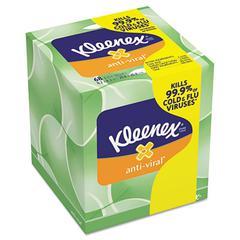 Anti-Viral Facial Tissue, 3-Ply, 68 Sheets/Box, 27 Boxes/Carton