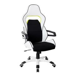 Techni Mobili Ergonomic Essential Racing Style Home & Office Chair, White