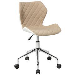 Techni Mobili Modern Height Adjutable Office Task Chair. Color Beige