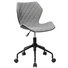 Techni Mobili Deluxe Modern Office Armless Task Chair, Grey