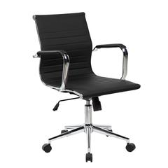 Modern Medium Back Executive Office Chair. Color: Black
