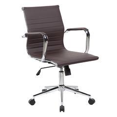 Modern Medium Back Executive Office Chair. Color: Chocolate