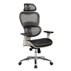 Techni Mobili Deluxe High Back Mesh Executive Office  Chair with Neck Support, Black