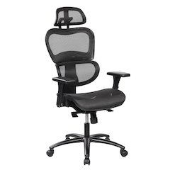 Deluxe High Back Mesh Office Executive Chair with Neck Support, Black
