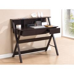 Writing Desk with Storage. Color: Wenge