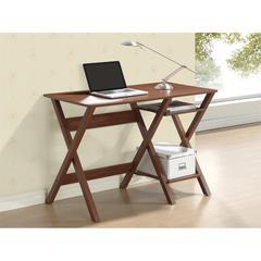 Writing Desk with Side Shelves. Color: Oak