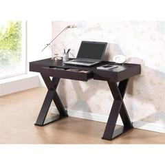 Trendy Writing Desk with Drawer. Color: Espresso