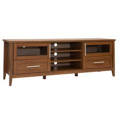 "Modern TV Stand with Storage For TVs Up To 75"". Color: Oak"