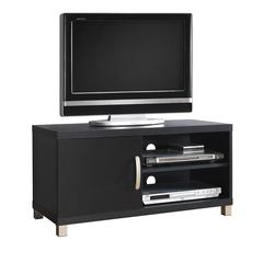 "Modern TV Stand with Storage For TVs Up To 40"". Color: Black"