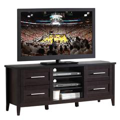 "Elegant TV Stand with Storage For TVs Up To 70"". Color: Espresso"