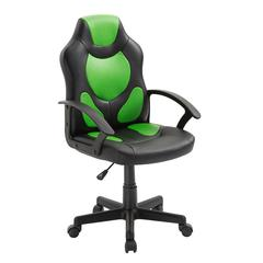 Kid's Gaming and Racing Chair with Wheels, Green