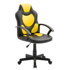 Kid's Gaming and Racing Chair with Wheels, Yellow