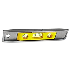 "Stanley Tools Magnetic Torpedo Level, 9"", Aluminum"