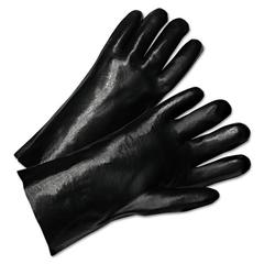 PVC Coated Gloves, 12in Long, Black