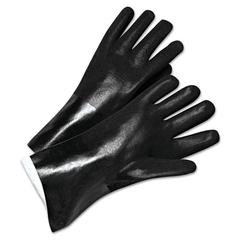 Anchor Brand PVC-Coated Jersey-Lined Gloves, 14in Long, Black
