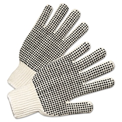 Anchor Brand Regular-Weight PVC-Dot String-Knit Gloves