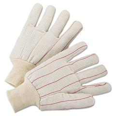 1000 Series Canvas Gloves, White, Large