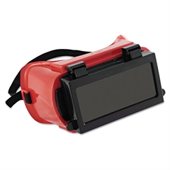 Anchor Brand Soft-Sided Fixed-Front Plate Goggles, Red Frame, Green Lens