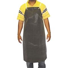 """Hycar Bib Apron with Cloth Backing, 24"""" x 36"""", Black"""