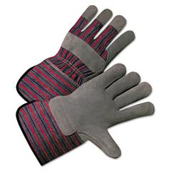 2000 Series Leather-Palm Gloves, 4 1/2in Cuff, Large