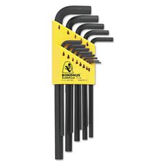 13-Piece Hex L-Wrench Set, Long-Arm, SAE
