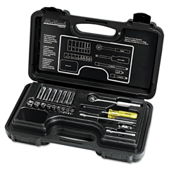 "Blackhawk 21-Piece Deep and Standard Socket Set, 1/4"" Drive"
