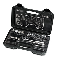 "20-Piece Mechanic's Tool Set, SAE, 3/8""-Drive, Deep/Standard, 12-Point"