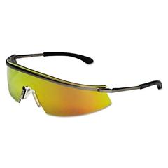 Crews Triwear Metal Protective Eyewear, Platinum Frame, Fire Lens