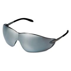 Crews Blackjack Protective Eyewear, Chrome Frame, Silver-Mirror Lens