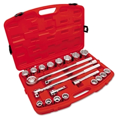 "21-Piece Mechanic's Tool Set, SAE, 3/4"" Drive, 7/8"" to 2"", 12-Point Sockets"