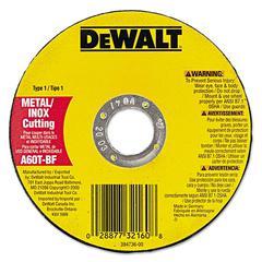 """DeWalt DW8062 High-Performance Metal-Cutting Wheels, Type 1, 4 1/2"""" x .045"""""""